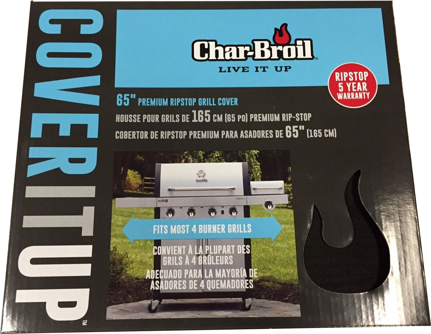 Char Broil 3 4 Burner Rip Stop Cover