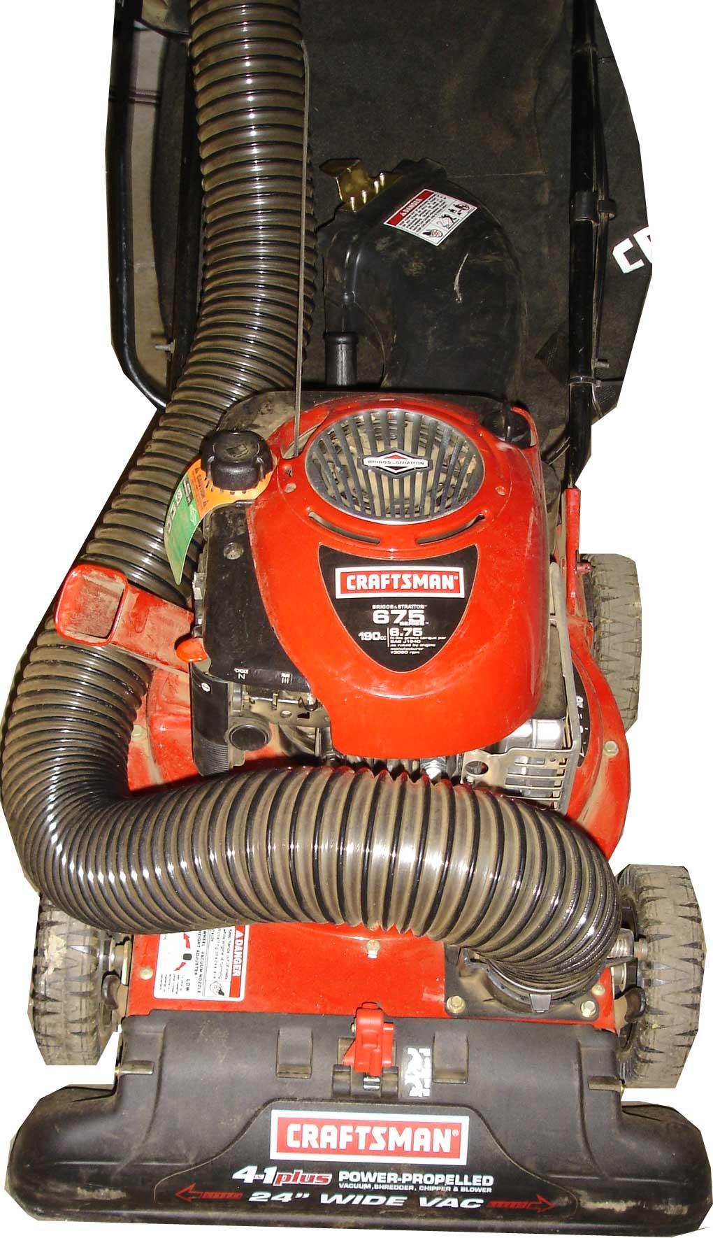 Sears Craftsman Lawn Vacuum And Chipper : Craftsman in yard vacuum blower chipper system ebay