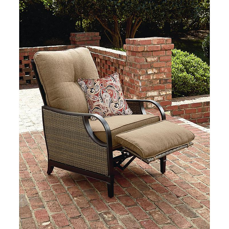 La Z Boy Lazy Outdoor Furniture Charlotte Patio Recliner Brown Frame Tan Pill