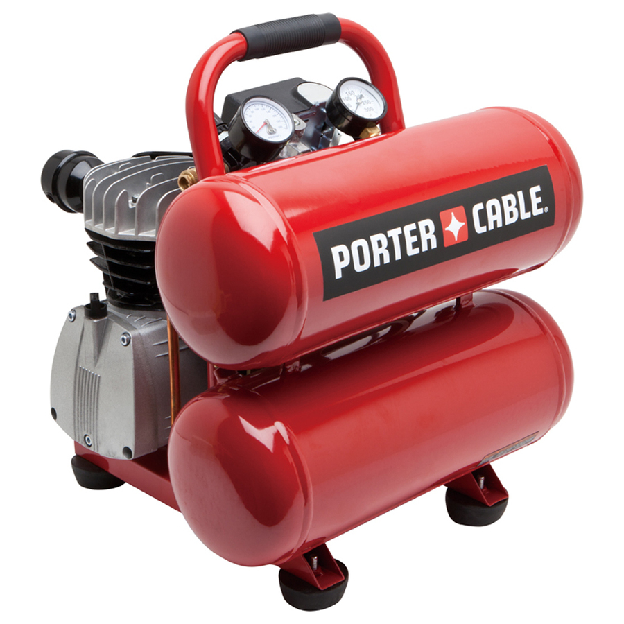 Porter Cable Air Compressor Pcfp02040 4 Gal Stack Tank Oil